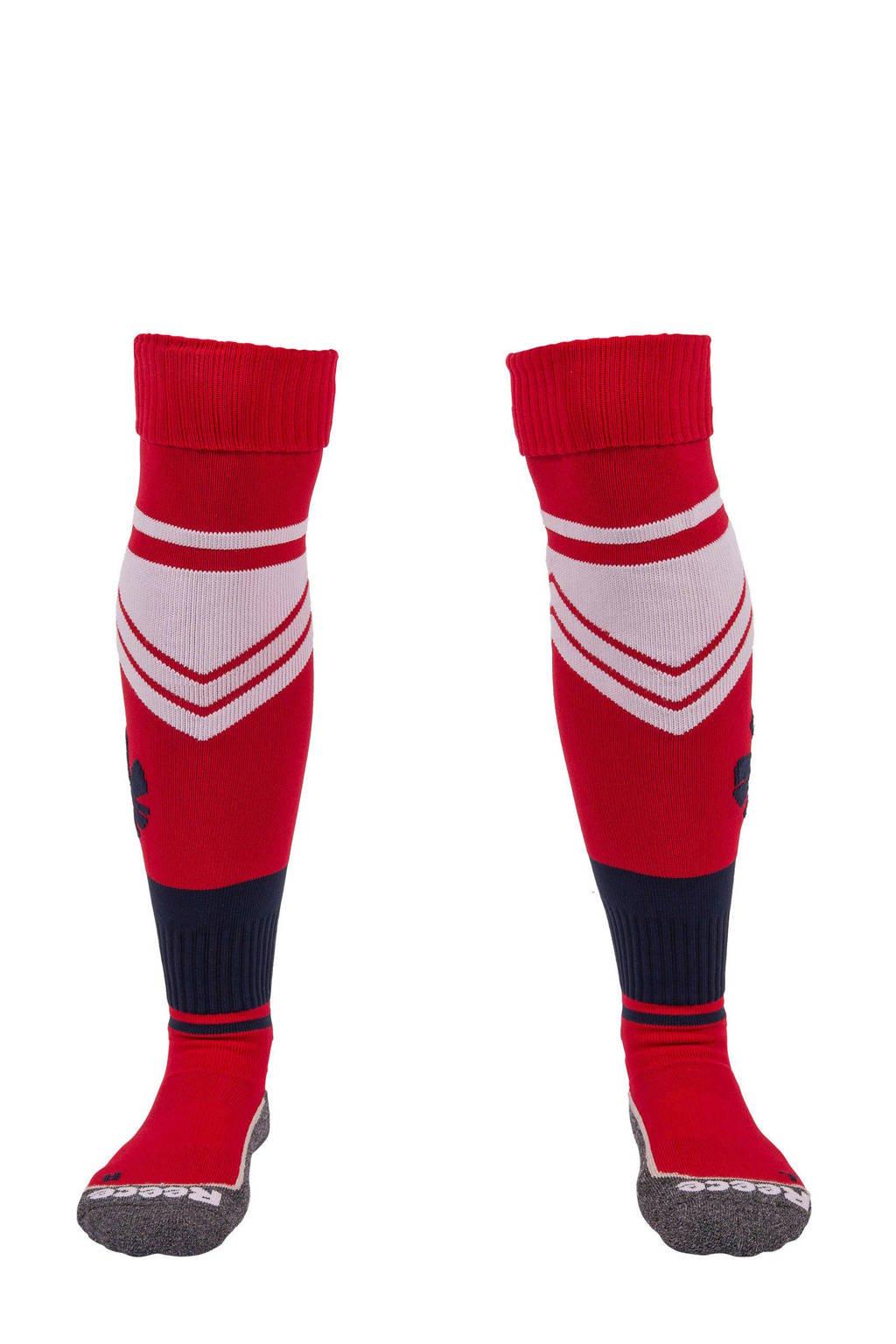 Reece   sportsokken Glenden rood, Rood/wit/donkerblauw
