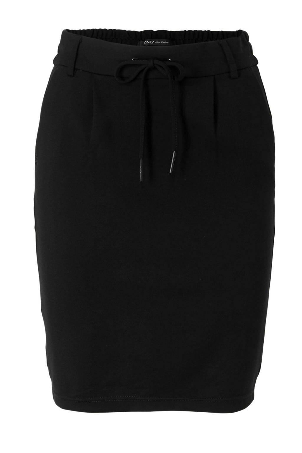 ONLY rok met steekzakken zwart, Zwart