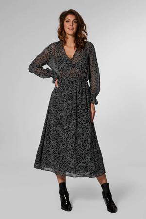 jurk Ivana met all over print zwart multi