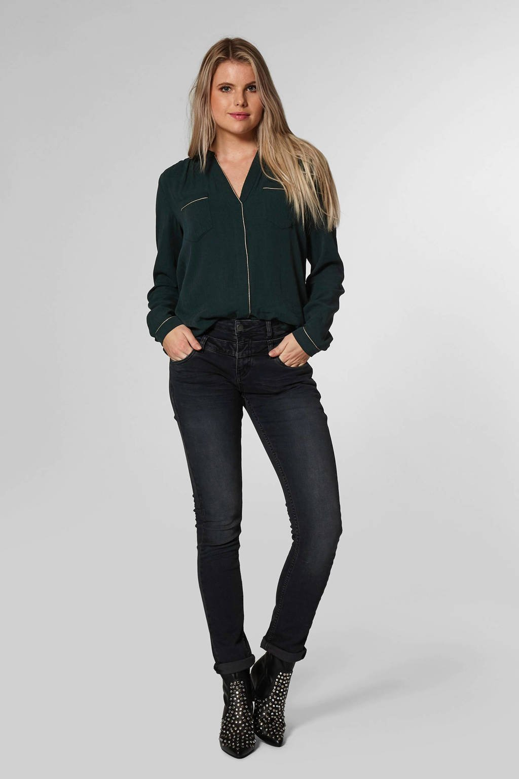 Circle of Trust slim fit jeans, Donkergrijs