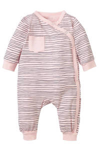 B.E.S.S newborn baby gestreept boxpak roze, Lichtroze/blauw