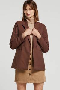 Y.A.S geruite blazer bruin, Zwart