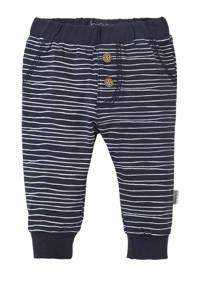 B.E.S.S newborn baby broek, Donkerblauw/wit