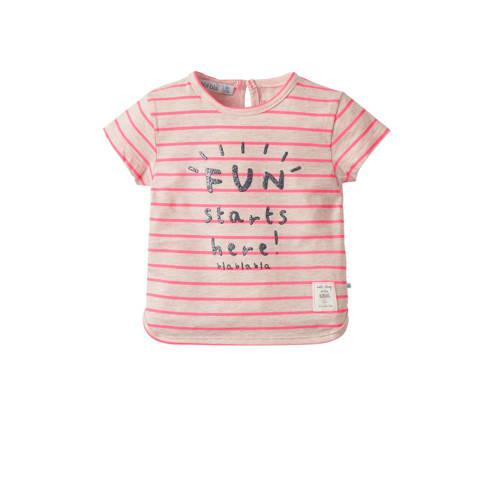 blablabla baby gestreept T-shirt Gamora met tekst