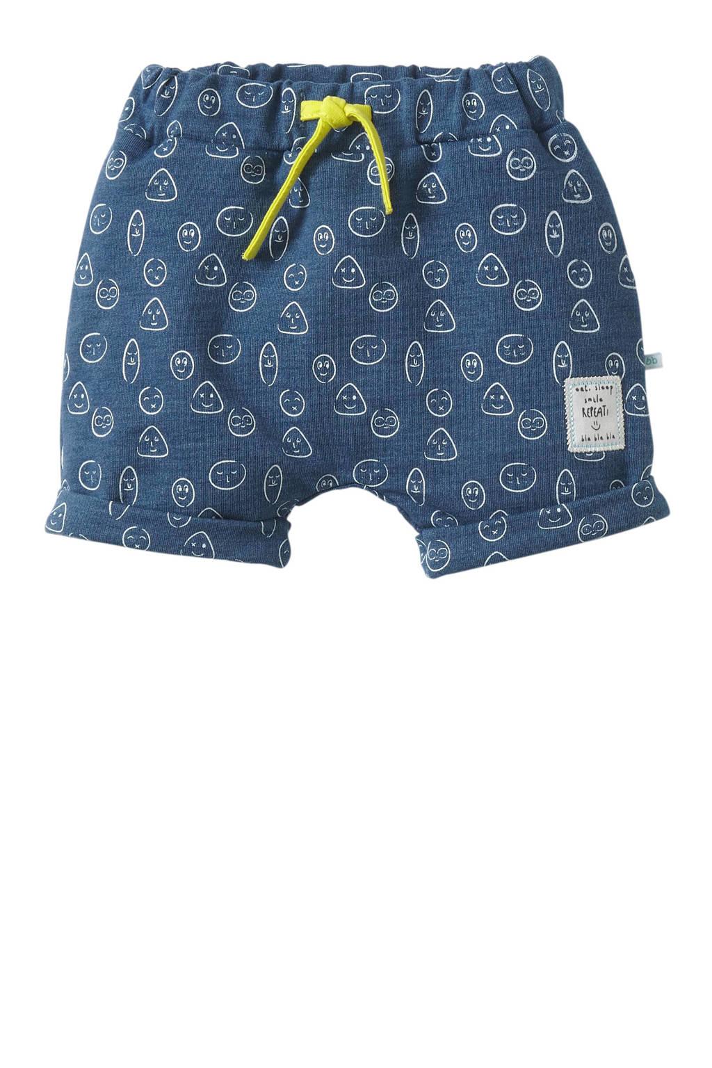 blablabla baby sweatshort Giorgio met all over print blauw/wit, Blauw/wit