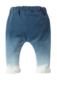 blablabla   baby joggingbroek Gustaf met dip-dye print blauw, Donkerblauw/wit