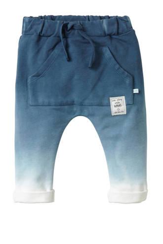 baby joggingbroek Gustaf met dip-dye print blauw