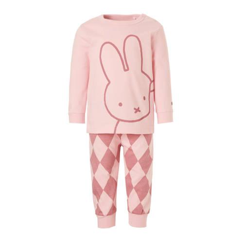 nijntje pyjama met print roze