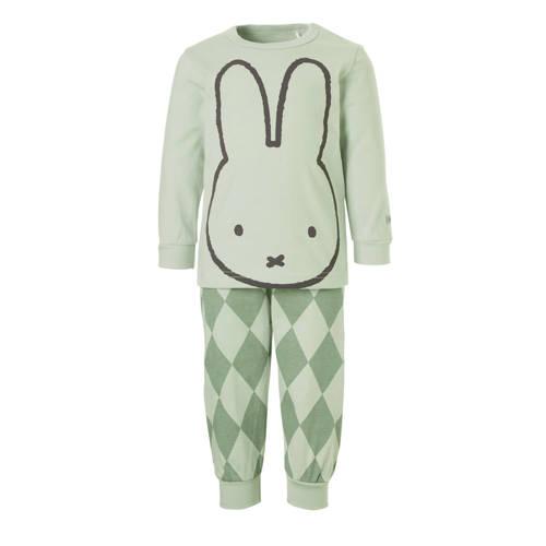 nijntje pyjama met print lichtgroen