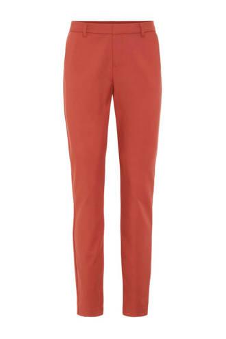 regular fit pantalon mahonie