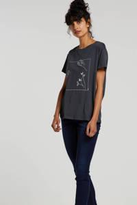 VERO MODA mid waist shape-up slim fit jeans VMSEVEN dark blue denim, Donkerblauw