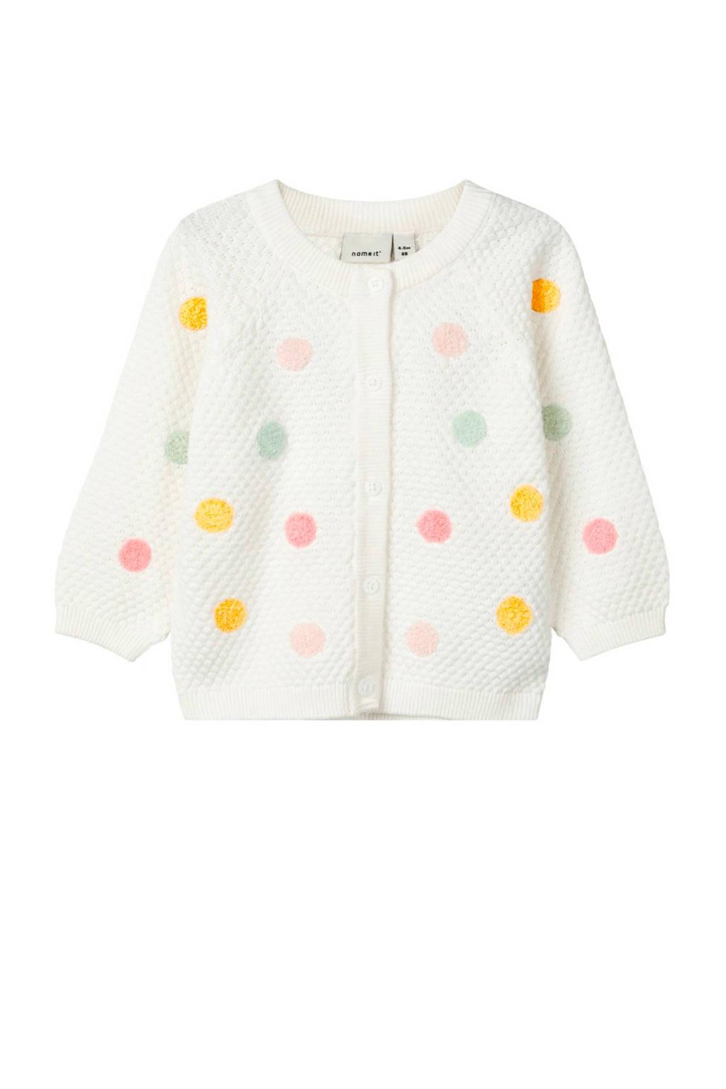 name it newborn baby vest Daddel, Wit