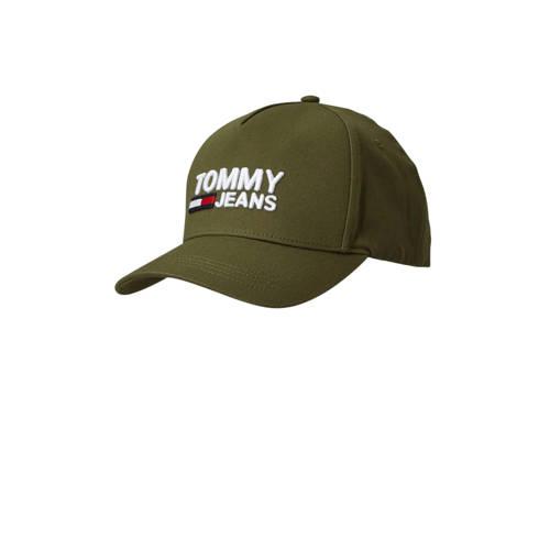 Tommy Jeans pet TJM LOGO CAP olijfgroen