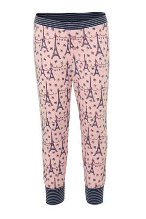 pyjama met all over print roze/blauw