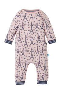 Charlie Choe baby boxpak met all over print roze/blauw, Roze/blauw