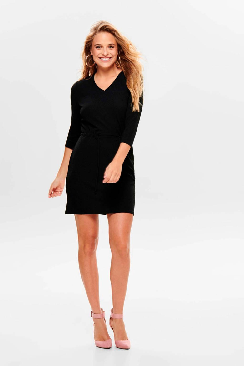 JACQUELINE DE YONG jurk met ceintuur zwart, Zwart