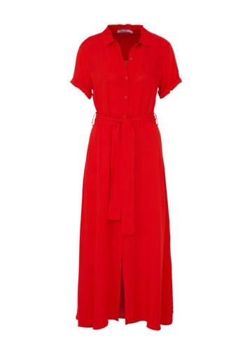 blousejurk met ceintuur rood