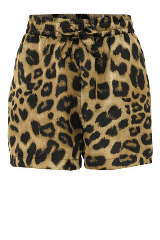 regular fit short met dierenprint briun/zwart