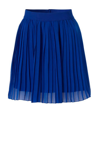 plissé rok blauw
