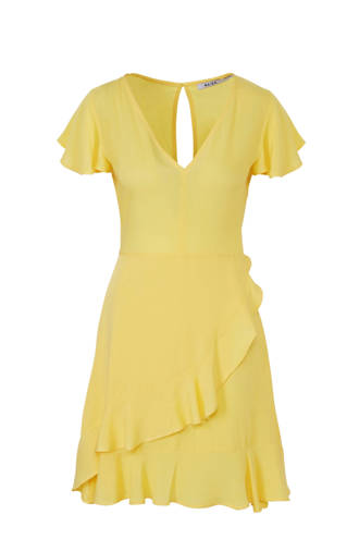 jurk met volant geel