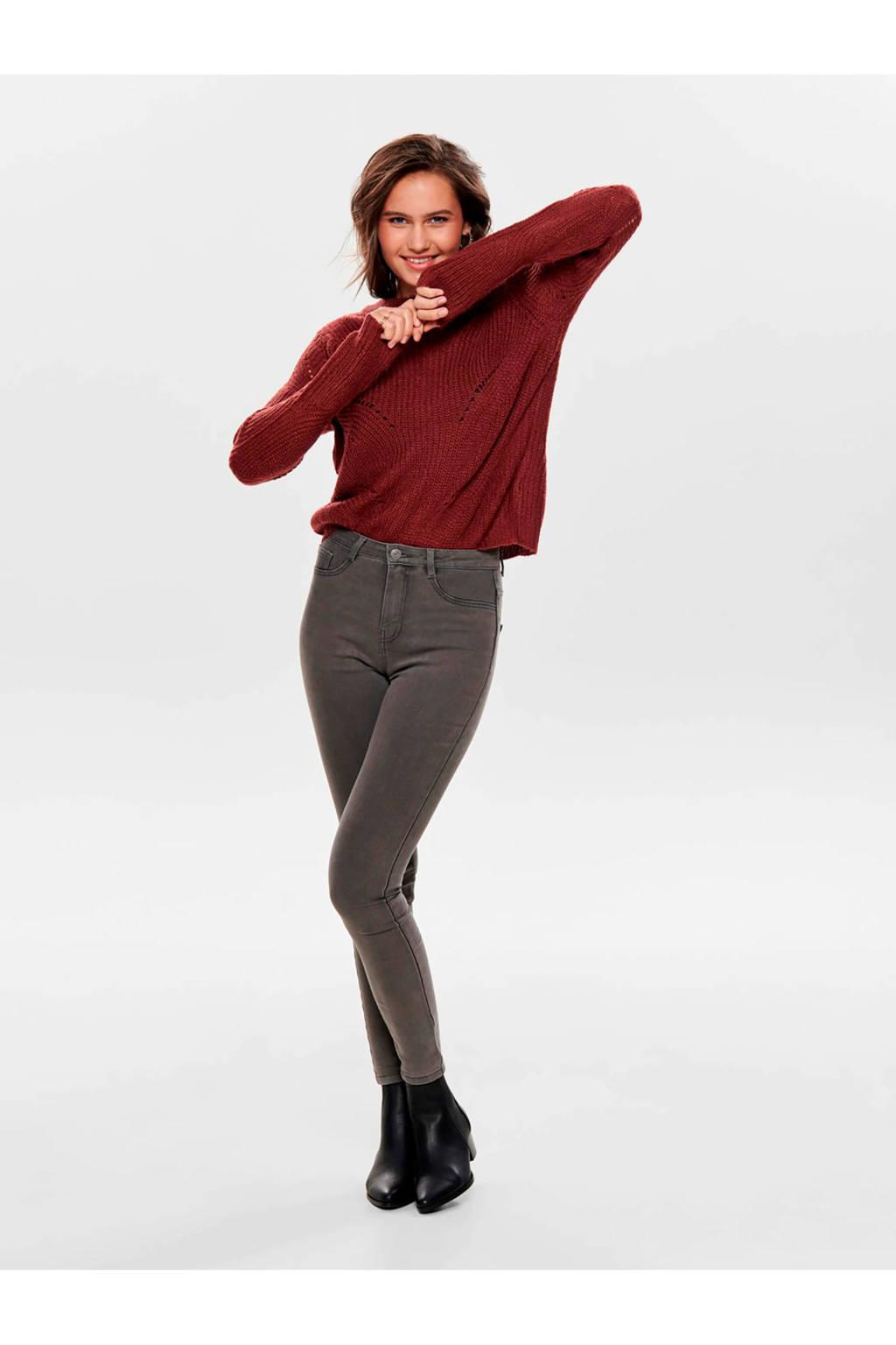 JACQUELINE DE YONG trui roodbruin, Bruin