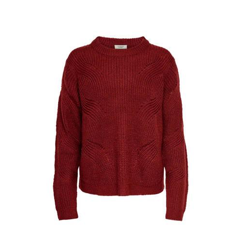 JACQUELINE DE YONG trui roodbruin