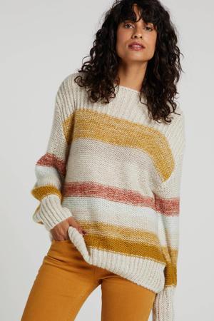 gestreepte trui grijs/rood/groen