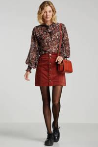 JACQUELINE DE YONG corduroy rok rood, Rood