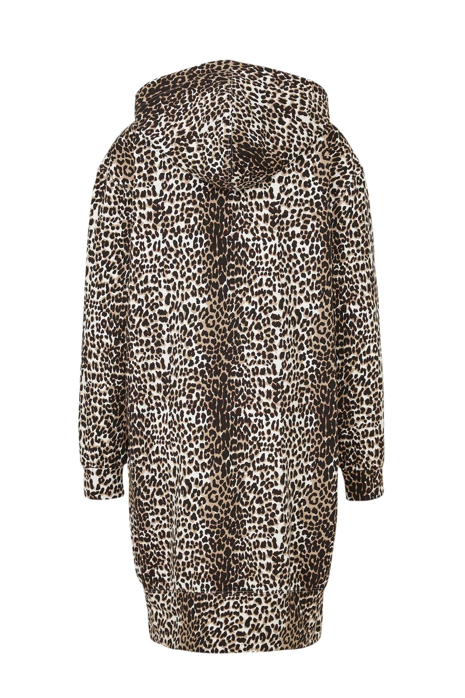 10DAYS vest met panterprint bruin multi