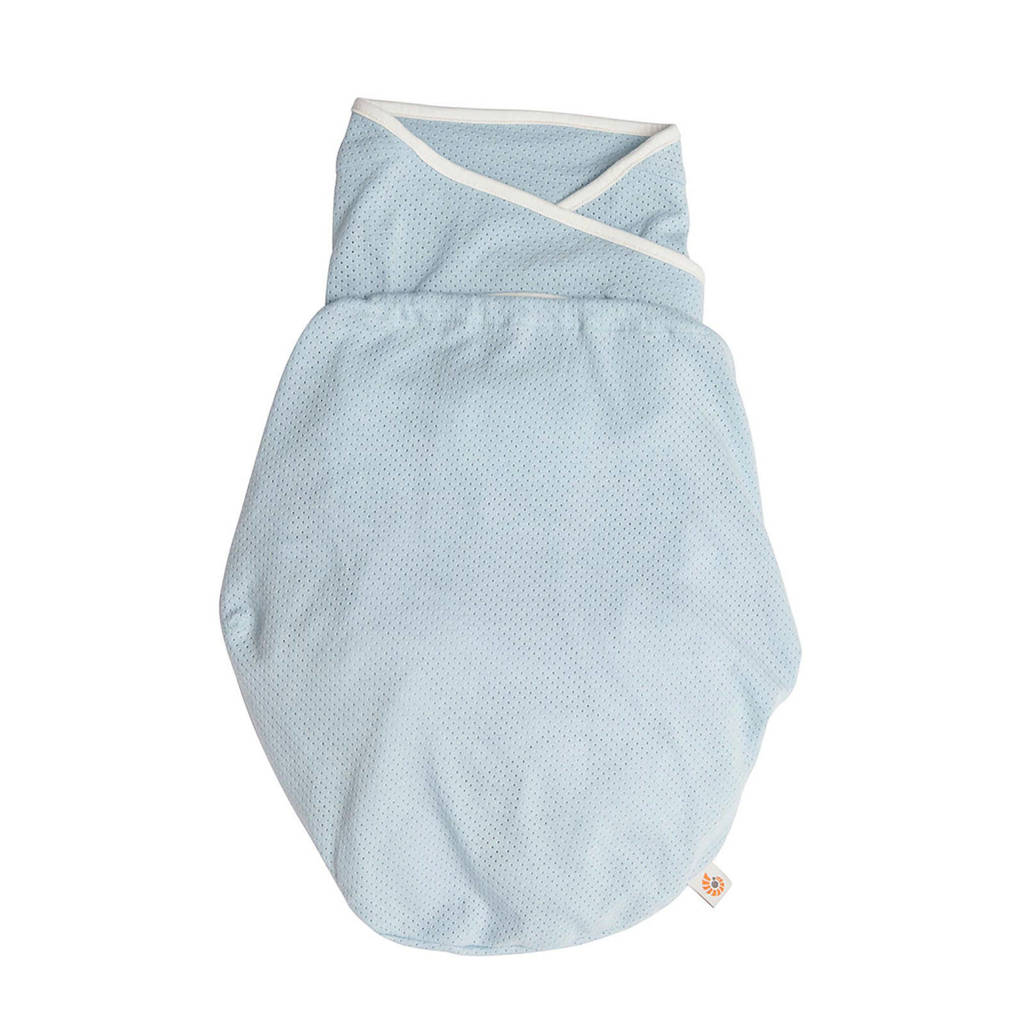 Ergobaby Swaddler inbakerdoek light weight blue, Blauw