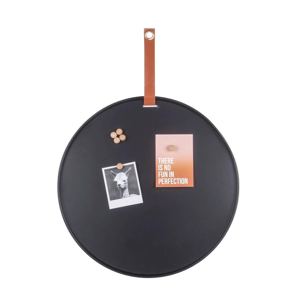 pt, magneetbord Perky (Ø50 cm)  (50x50x0,5 cm), Zwart