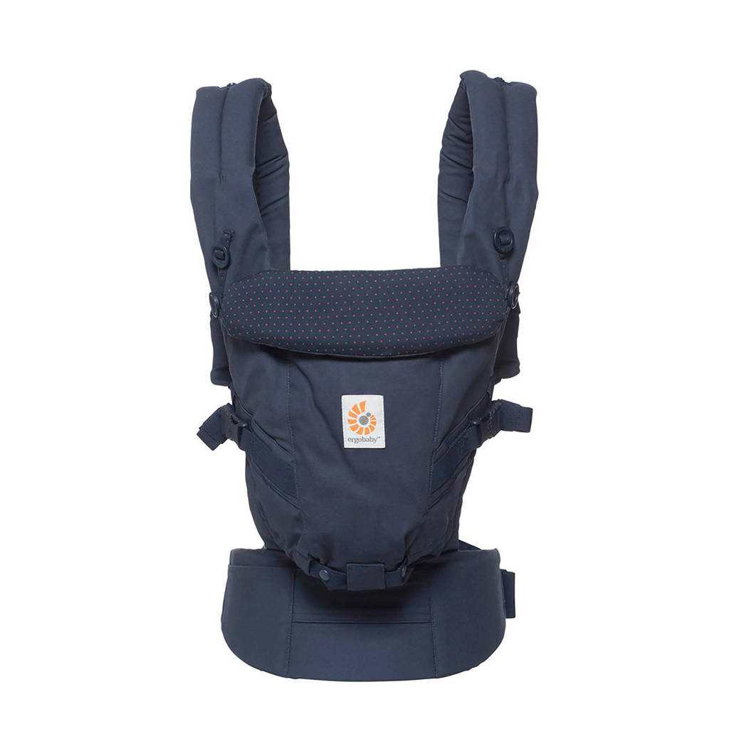 Ergobaby Adapt draagzak navy mini dots, Navy Mini Dots