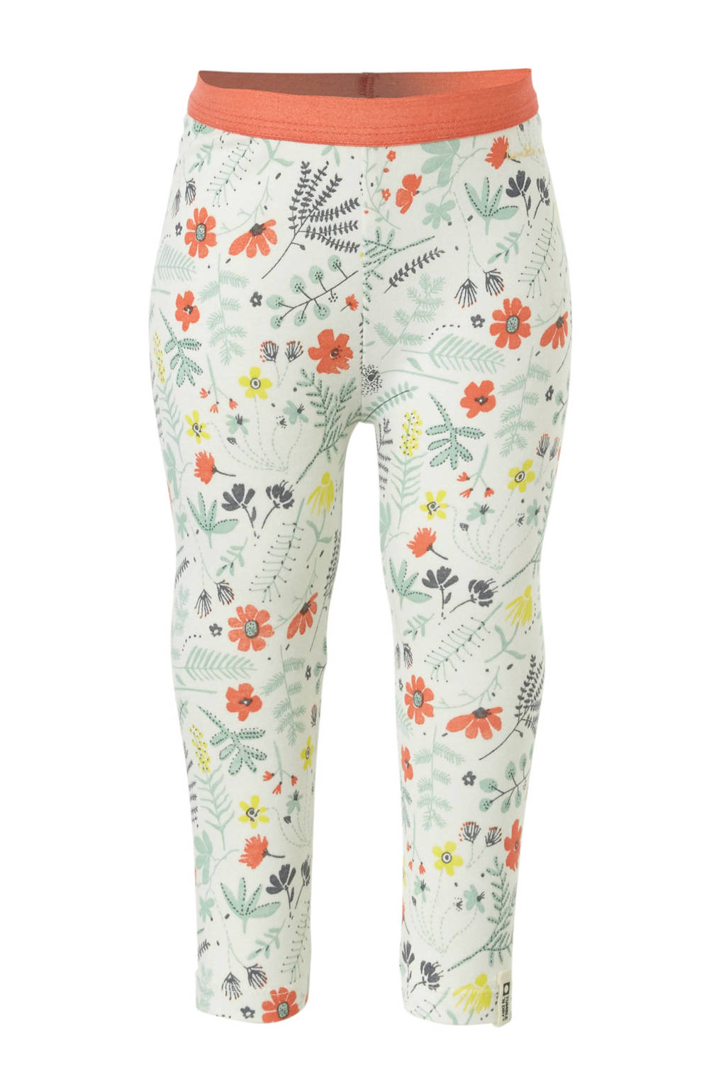 Tumble 'n Dry Zero legging Elswood met all over print wit, Wit/groen/koraal