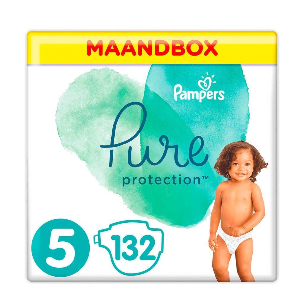 Pampers Pure Protection maandbox maat 5 (11+ kg) 132 luiers, 5 (11-23 kg)