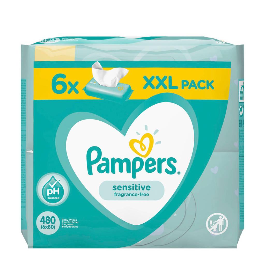 Pampers Sensitive 6 x 80 babydoekjes