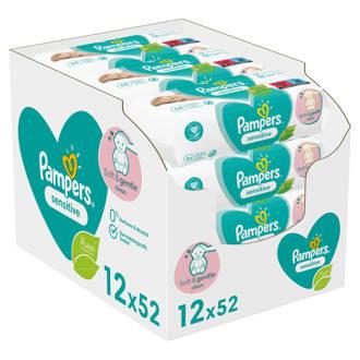 Sensitive voordeelverpakking 12 x 52 babydoekjes