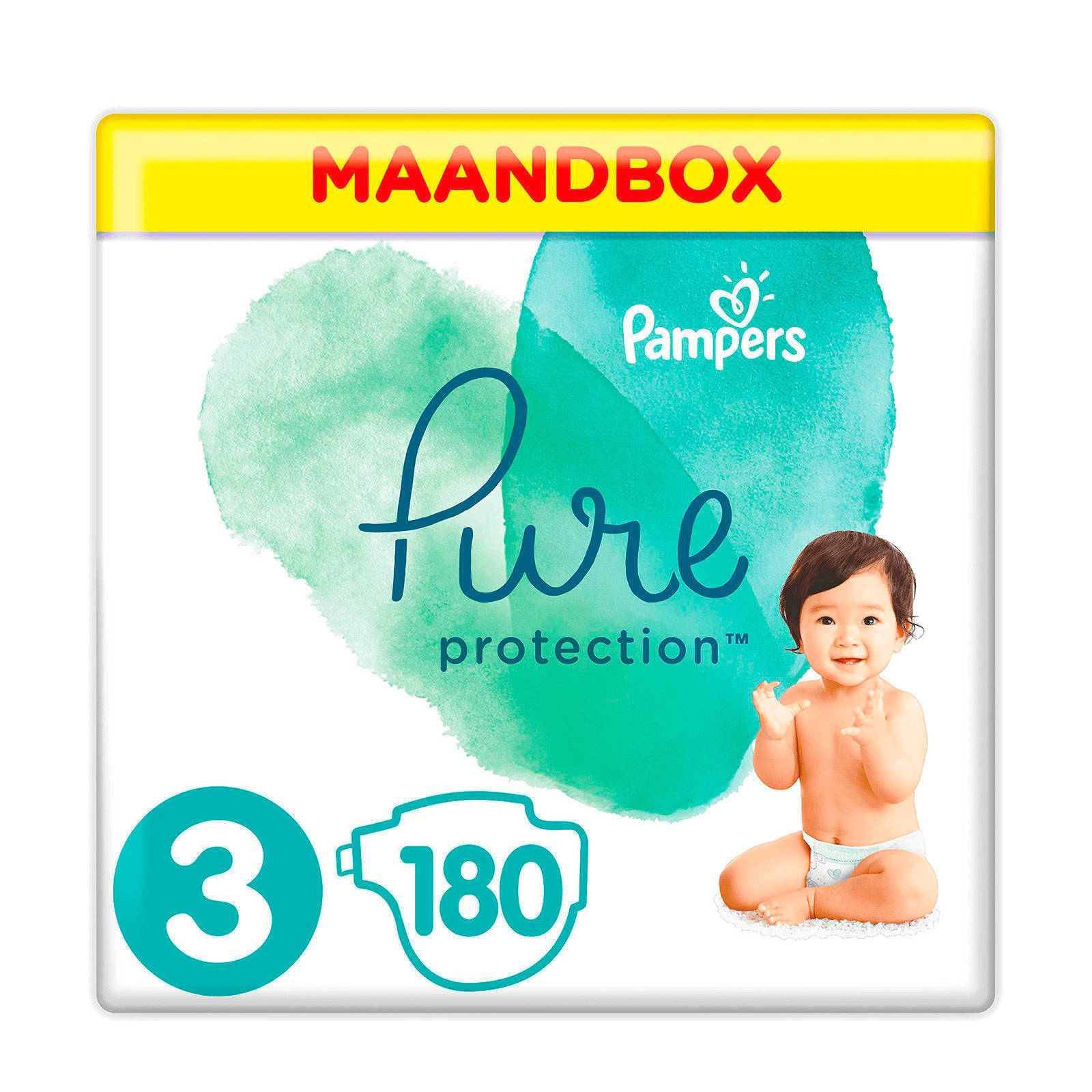 ebdacd671ee wehkamp Pampers Pure Protection maandbox maat 3 (6-10 kg) 180 luiers