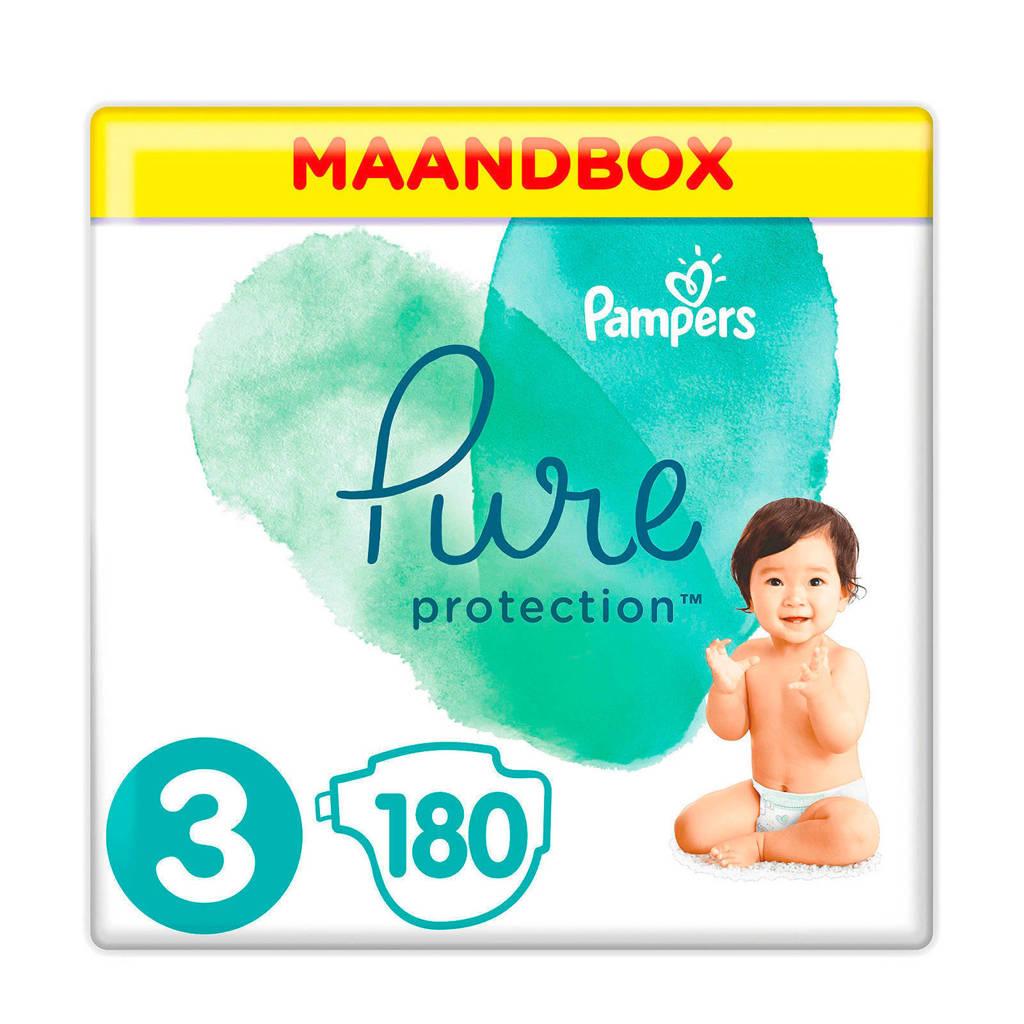 Pampers Pure Protection maandbox maat 3 (6-10 kg) 180 luiers