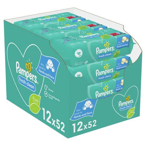 Pampers Fresh Clean 12 x 52 babydoekjes kopen