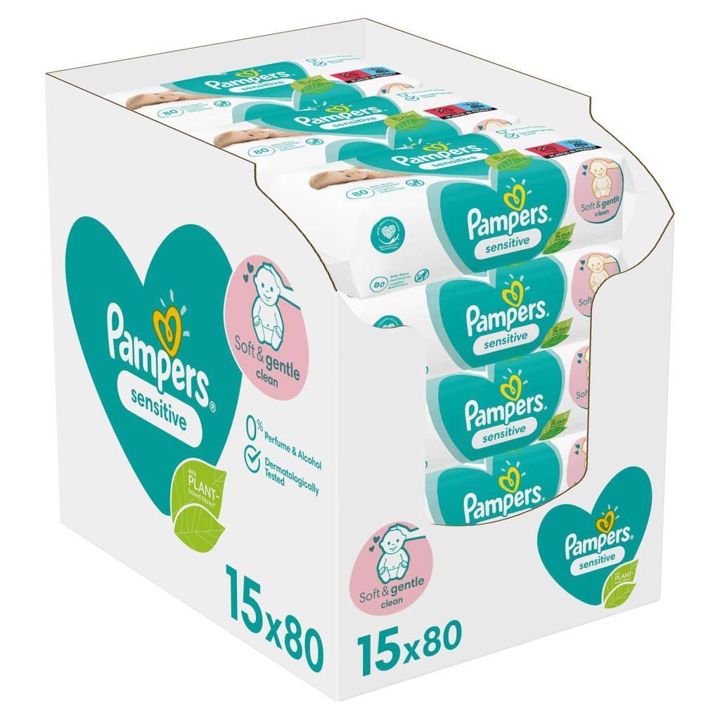 Pampers Sensitive voordeelverpakking 15 x 80 babydoekjes