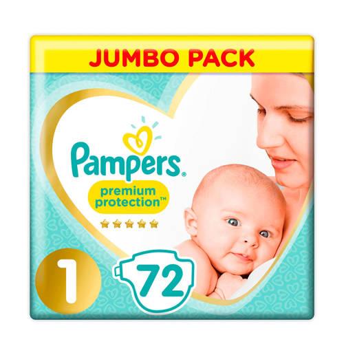 Pampers Jumbo Pack Maat 1 (New Born) 2-5 kg 72 luiers