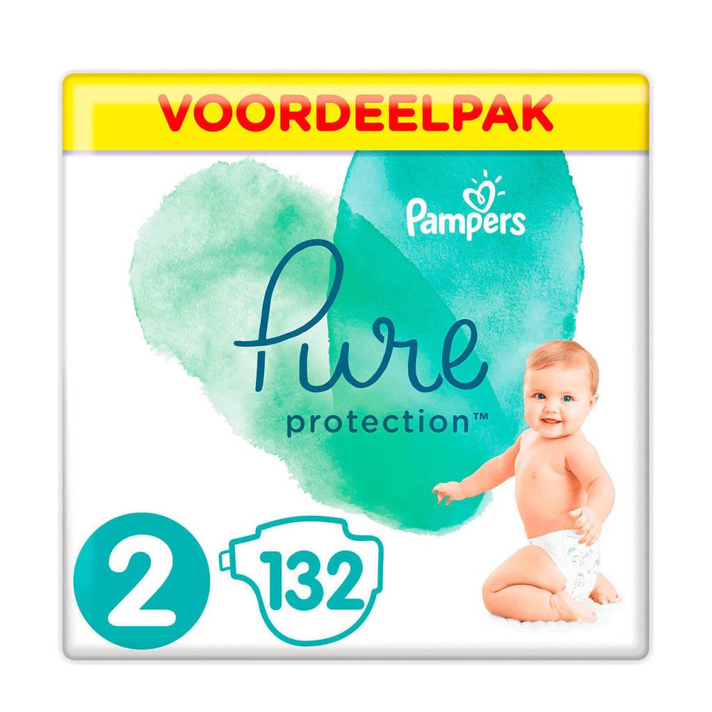 Pampers Pure Protection voordeelpak maat 2 (4-8 kg) 132 luiers