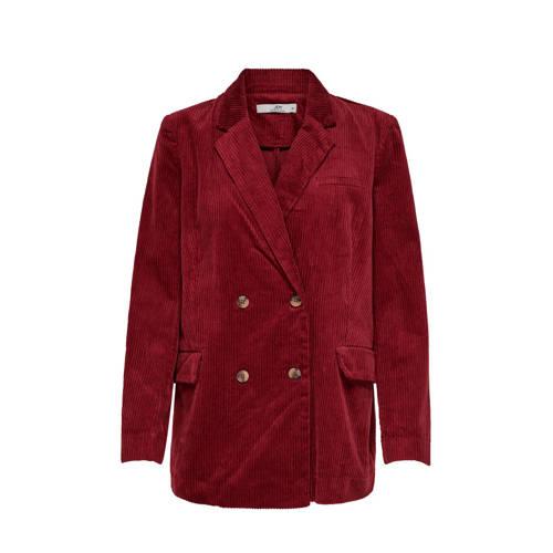 JACQUELINE DE YONG corduroy blazer rood