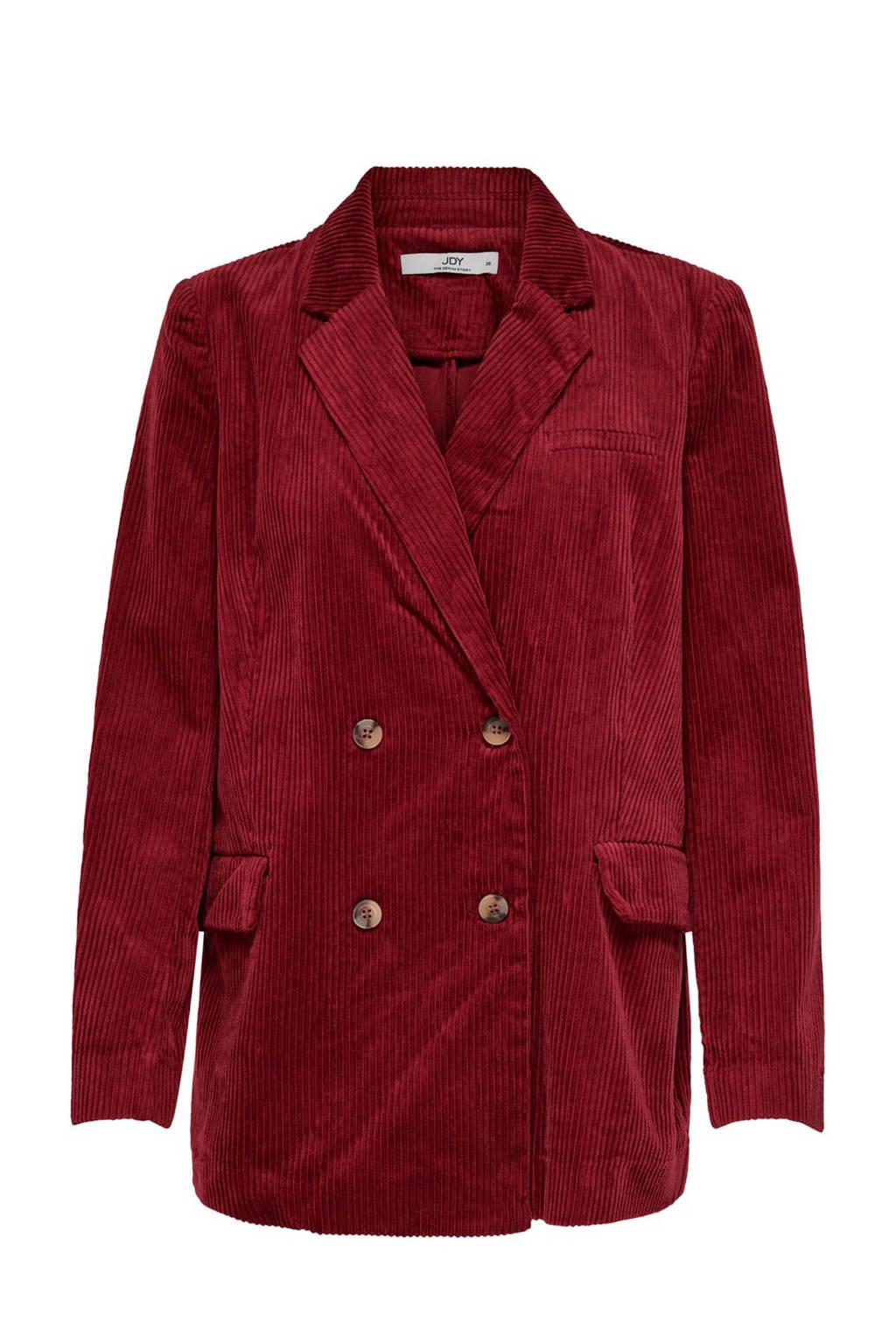 JACQUELINE DE YONG corduroy blazer rood, Rood