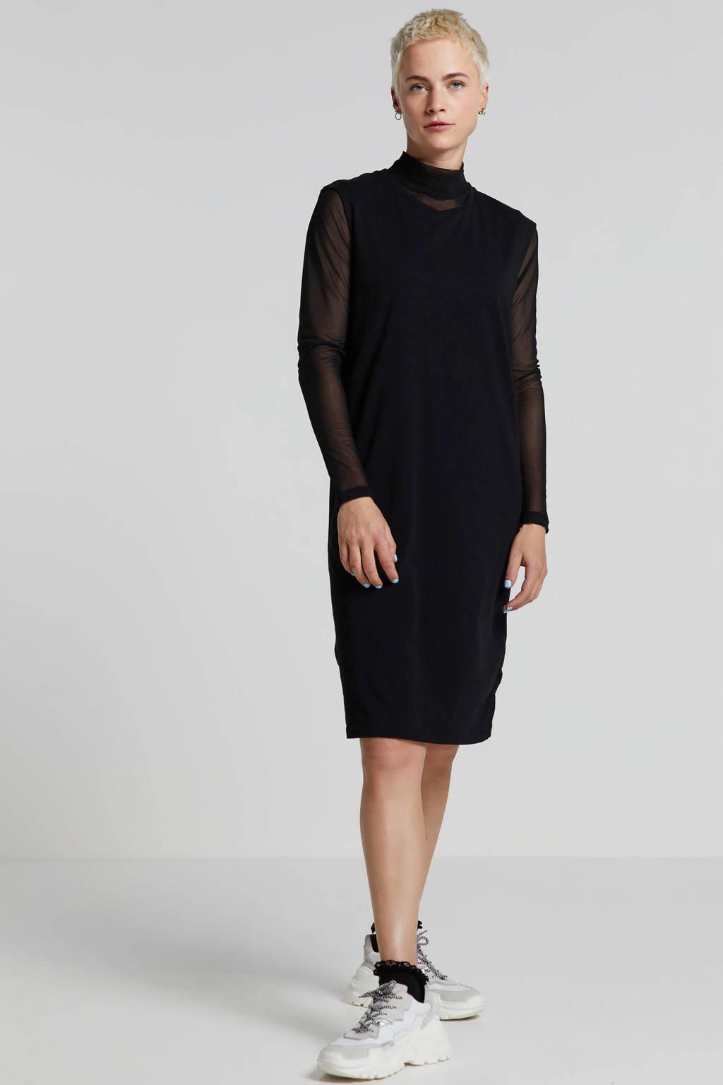 10DAYS A-lijn jurk zwart, Zwart