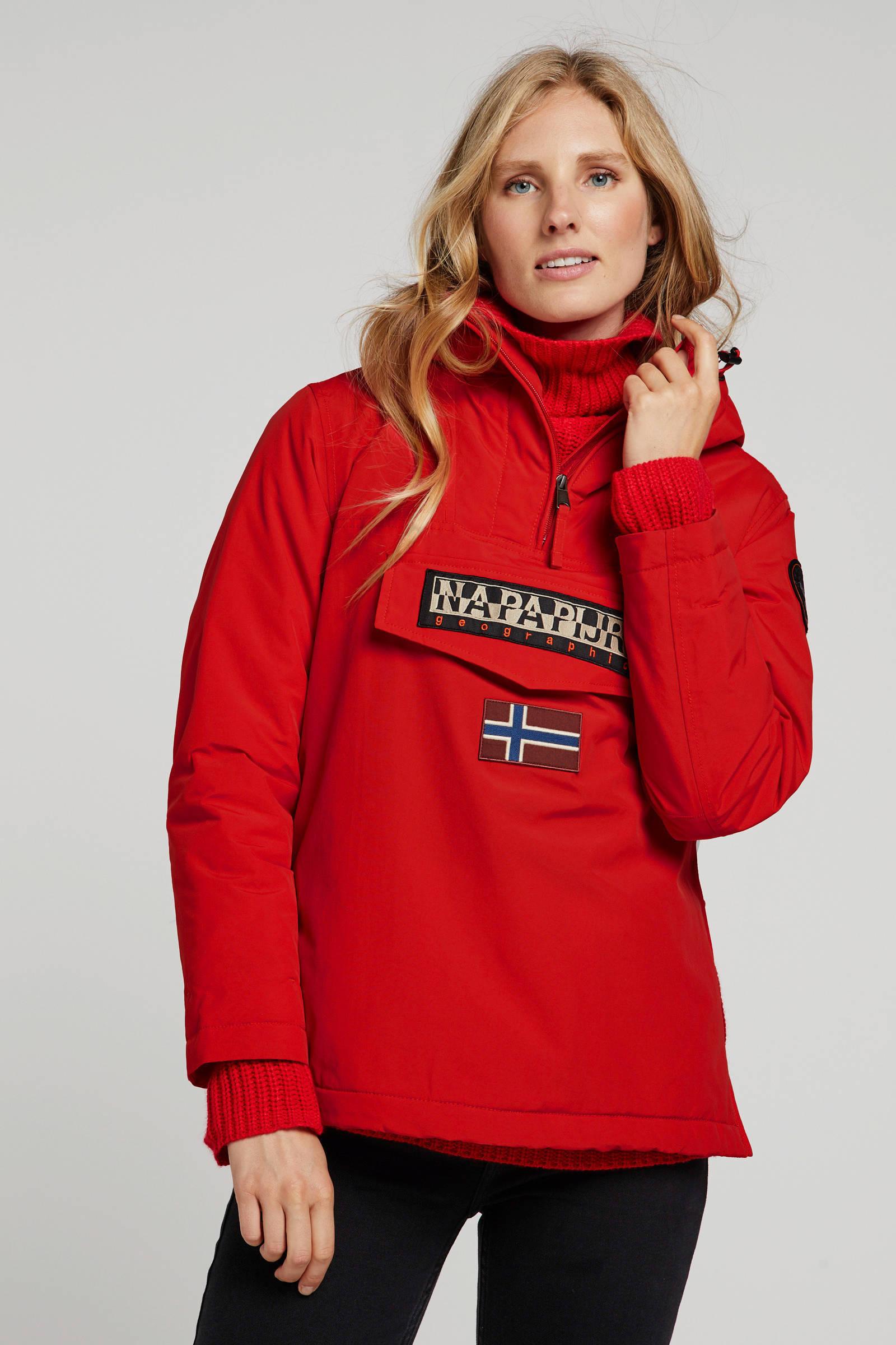 Napapijri winterjas Rainforest met logo rood | wehkamp