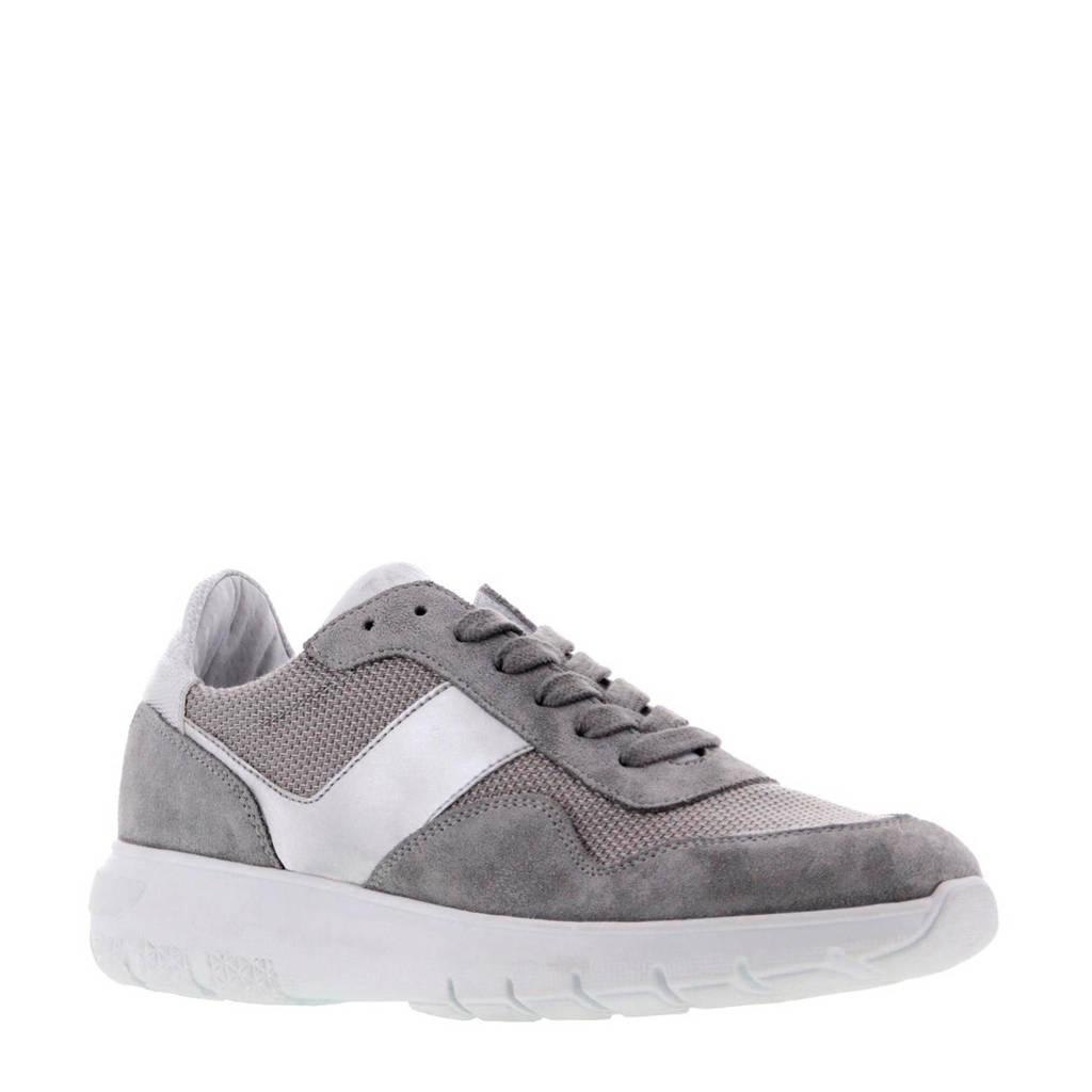 Tango Shoes Haley 12-F suède sneakers grijs/zilver, Grijs/zilver