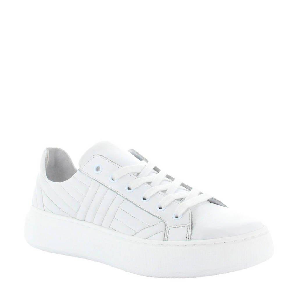 Tango Shoes Ingeborg 6-B leren sneakers wit, Wit