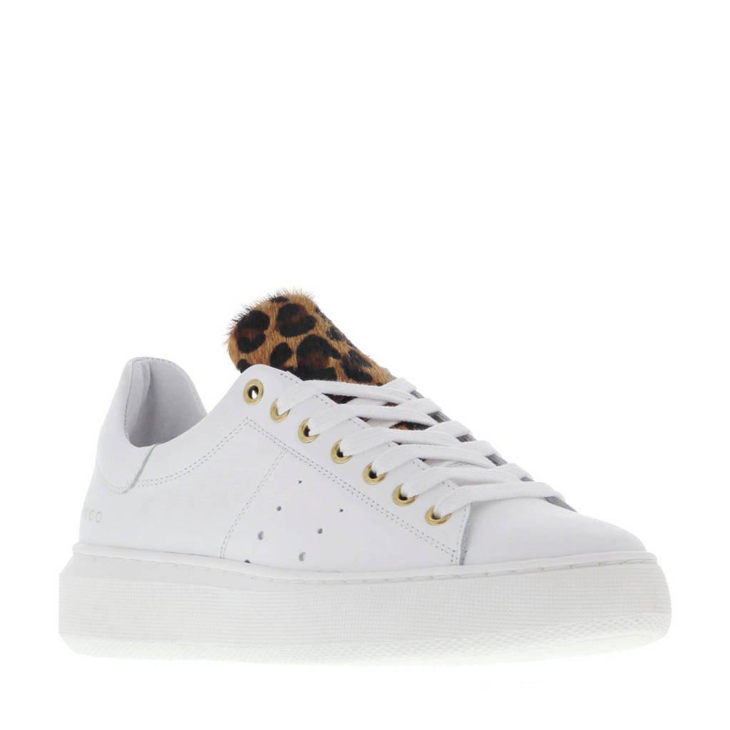 Tango Shoes Ingeborg 1-CG leren sneakers wit/panterprint, Wit/Panterprint
