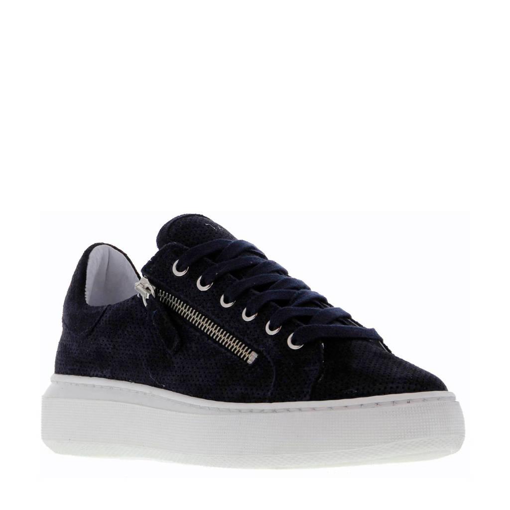 Tango Shoes  Ingeborg 13-B suède sneakers donkerblauw, Donkerblauw